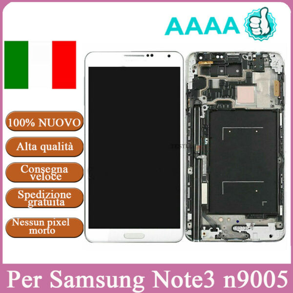 Per Samsung Galaxy Note 3 N9005 Display LCD LTE Touch Screen Schermo  + Telaio