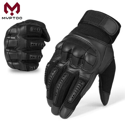 Leather Touch Screen Motorcycle Full Finger Gloves Motorbike Racing Moto Driving