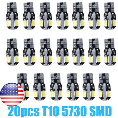 20 x Canbus T10 194 168 W5W 5730 8 LED SMD White Car Side Wedge Light Bulb 2019