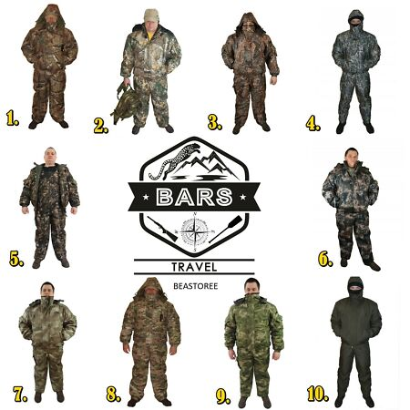 img--20°C RUSSIAN MILITARY WINTER UNIFORM BARS JACKET PANTS SURVIVAL HUNTING FISHING