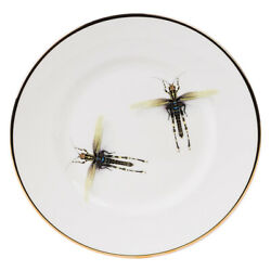 NEW Melody Rose Dragonflies Salad Plate
