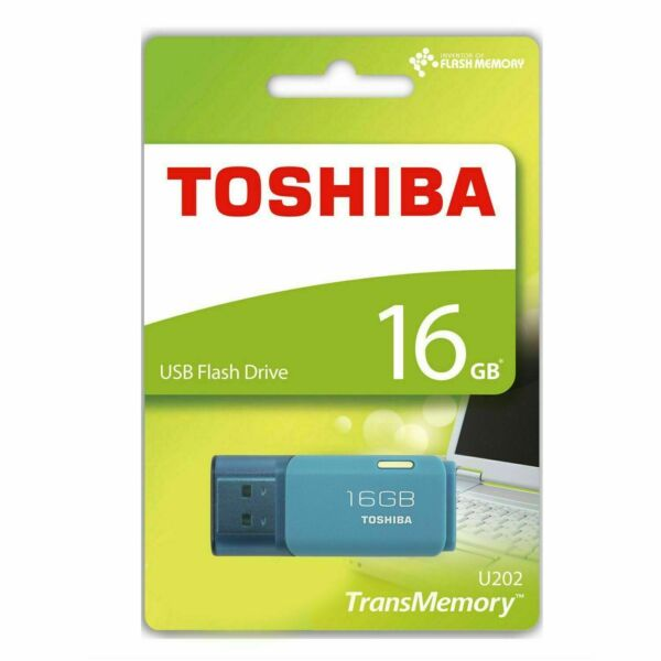 Toshiba 16GB TransMemory U202 USB 2.0 Flash MEMORY Drive USB Stick Backup BLUE