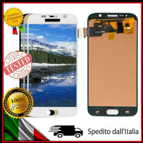 PER SAMSUNG GALAXY S6 G920 SM-G920F DISPLAY LCD TOUCH SCREEN SCHERMO VETRO