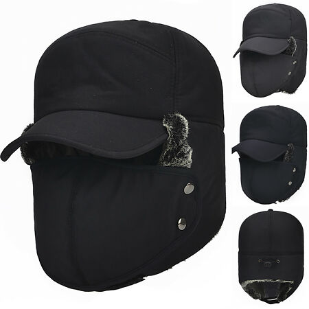 img-Unisex Balaclava Aviator Trapper Trooper Hat Warm Earflap Russian Face Mask Cap