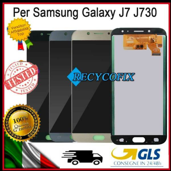 DISPLAY LCD TOUCH SCREEN SCHERMO VETRO PER SAMSUNG GALAXY J7 2017 J730 J730F/DS