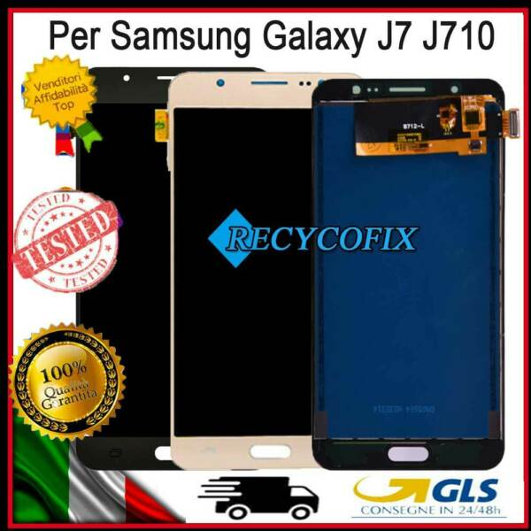DISPLAY LCD PER SAMSUNG GALAXY J7 2016 J710 J710FN/H TOUCH SCREEN SCHERMO VETRO