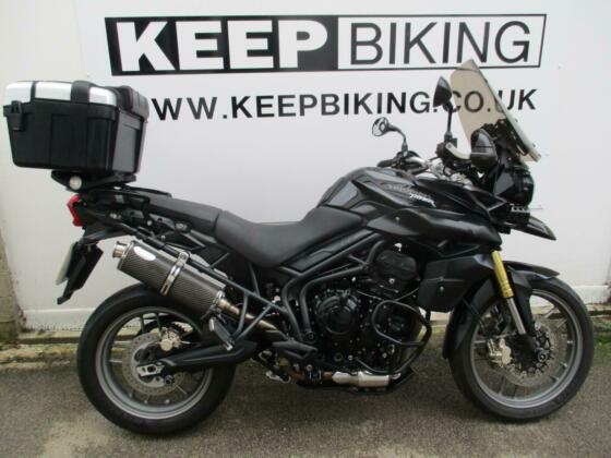 2012 TRIUMPH TIGER 800  32090 MILES.  SERVICE HISTORY. ADJUSTABLE SCREEN.