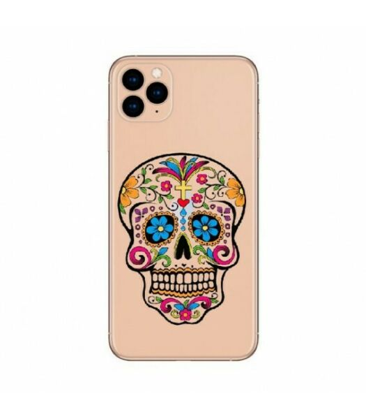 Coque iphone 11 PRO mort mexicaine calavera transparente
