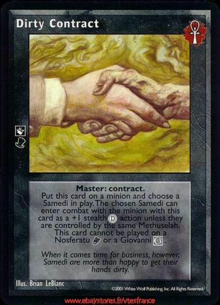 VTES V:TES - Dirty Contract x4 - Master / Bloodlines