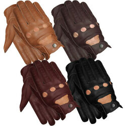 Kyпить MEN'S CHAUFFEUR  REAL LAMBSKIN SHEEP NAPPA LEATHER CAR DRIVING GLOVES BLACK TAN  на еВаy.соm