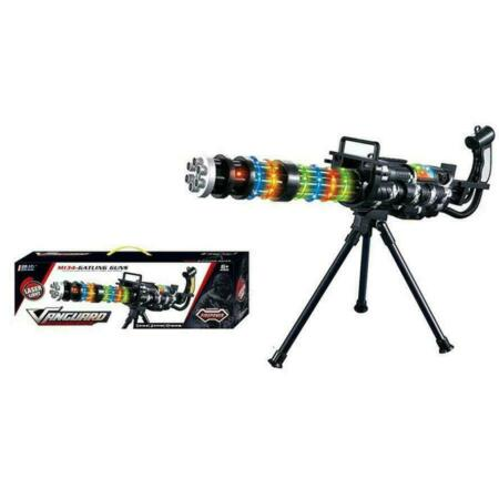 img-KIDS GATLING TOY GUN WITH LIGHTS SOUND VIBRATION FLIP BIPOD BOYS ARMY ROLE PLAY