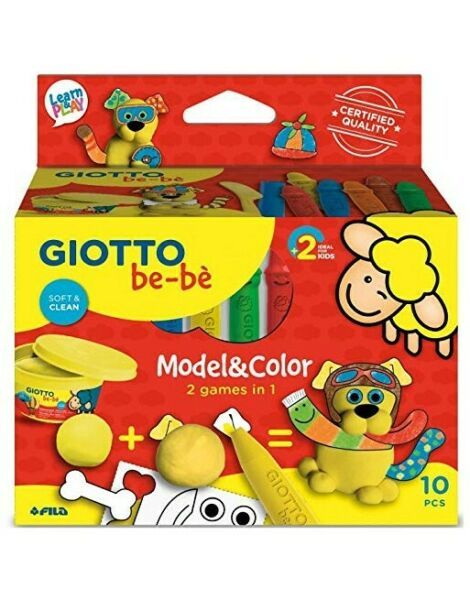 GIOTTO BEBE MODEL E COLOR CAGNOLINO PASTA MODELLABILE PENNARELLI