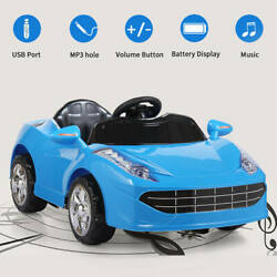 Kyпить Kids Ride On Car Electric 6V Battery Power Gift Toy MP3 W/ Remote Control Blue на еВаy.соm