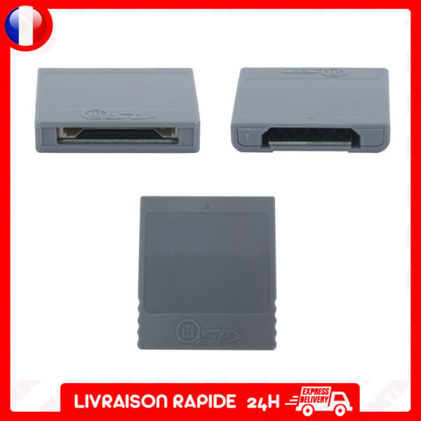 adaptateur carte sd media launcher compatible gamecube wii SD gecko memory card