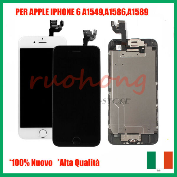 DISPLAY SCHERMO LCD+TOUCH SCREEN PER IPHONE 6 6G COMPLETO ASSEMBLATO
