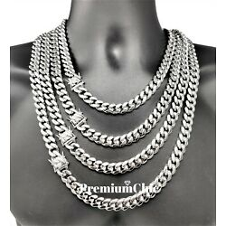 Kyпить Mens Miami Cuban Link Chain SOLID Stainless Steel Necklace or Bracelet Jewelry на еВаy.соm