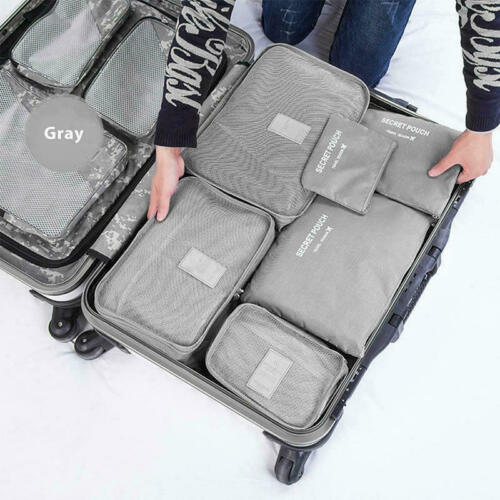 9Pcs Travel Storage Bag Set for Clothes Luggage Packing Cube Organizer Suitcase