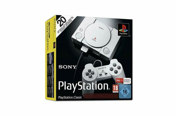 SONY PLAYSTATION CLASSIC PS1 CONSOLE CON DUE CONTROLLER E 20 GIOCHI INCLUSI