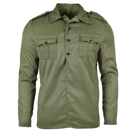 img-ORIGINAL BULGARIAN ARMY SHIRT GREEN OLIVE JACKET COMBAT MILITARY ISSUE NEW