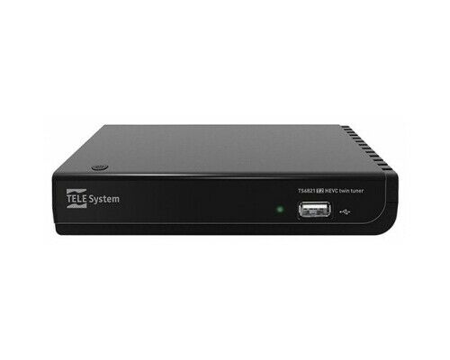 Decoder Digitale Terrestre DVB-T2 HEVC USB HDMI Nero Telesystem TS6821 TWIN