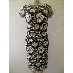 $295 DAVID MEISTER FLORAL EMBROIDERED SHORT SLEEVE COCKTAIL DRESS SIZE 2 - NWT