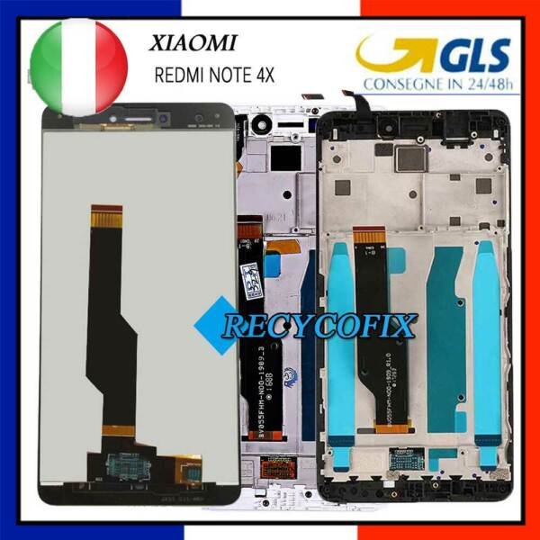 Display LCD Per XiaoMi Redmi NOTE 4X Touch Screen Vetro Con Frame Schermo AAA+