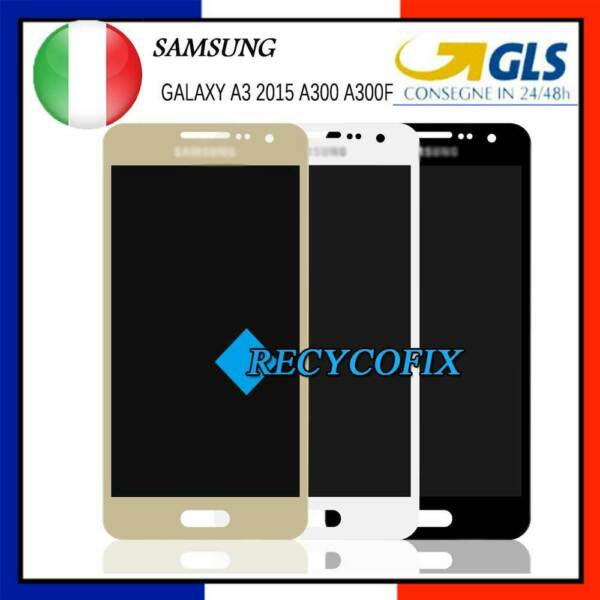 LCD DISPLAY+TOUCH SCREEN PER SAMSUNG GALAXY A3 2015 A300 SM-A300FU SCHERMO 24H!