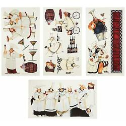 Kitchen Wall Decorations Italian Fat Chefs Decals Chef Stickers Cooking Cafe