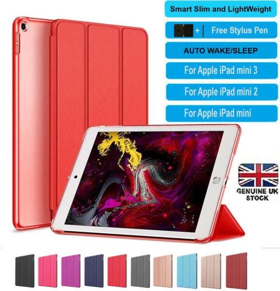 Ultra thin magnetic leather smart case cover stand cover Apple iPad mini 1 2 3