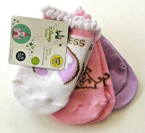 Safety toe socks Princess 3 pair size 6-12 months nwt