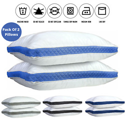 Kyпить Pillows Pack of 2 Gusseted Bed Sleeping Pillow Down Alternative Queen King Size на еВаy.соm