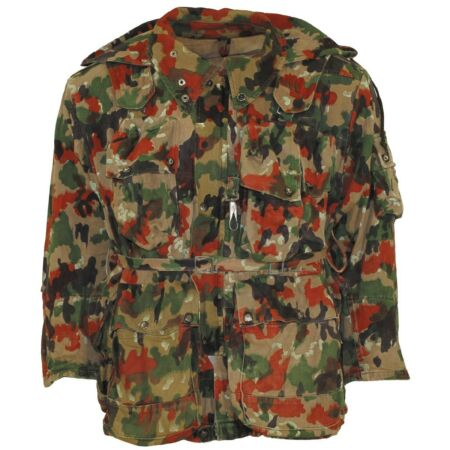 img-Swiss Army Field Jacket Field Parka Parka Jacket Camouflage M70 Used with Hood