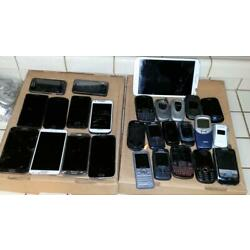 27 SAMSUNG CELL PHONES *PARTS REPAIR UNTESTED*  Filp Different Carriers Tablet