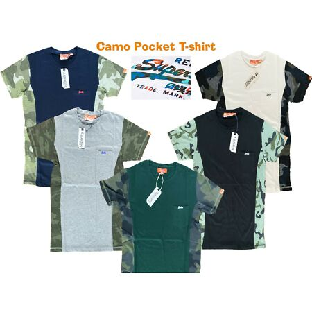 img-Superdry Vintage Authentic Camo T-Shirt - Slim fit