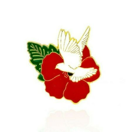 img-2020 DESIGN DOVE OF PEACE RED POPPY BRITISH MADE REMEMBRANCE ENAMEL PIN BADGE