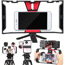 Kyпить Cell Phone Stabilizer Rig Video Camera Cage Film Making for iPhone Samsung 4-7