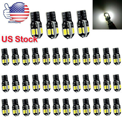 40x Canbus T10 194 168 W5W 5730 8 LED SMD White Car Side Wedge Light Bulb Lamp