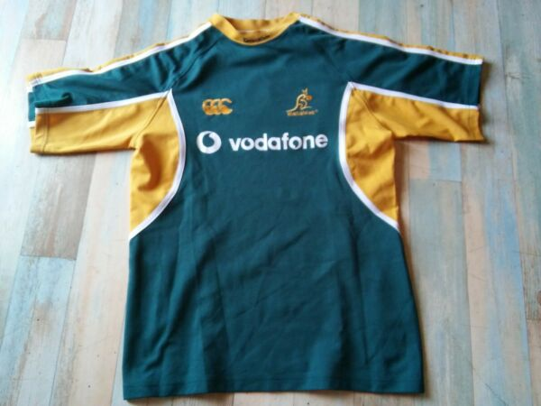 MAILLOT RUGBY CANTERBURY AUSTRALIE WALLABIES VODAFONE TAILLE M/D5 TBE