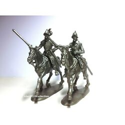 NO NAME, Spanish Mounted CONQUISTADORS, 2 mounted plastic toy soldiers 1:32