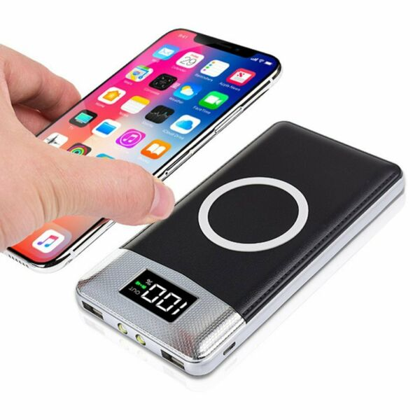 Powerbank wireless 10000mAh, Caricabatteria portatile con LED Digitale display