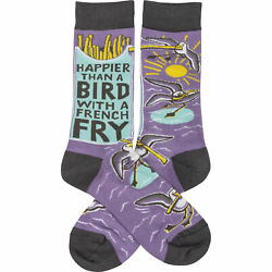 Unisex Primitives by Kathy Socks - Happier Than A Bird With A French Fry