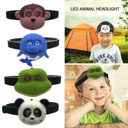 img-Creative LED Animal Headlights Torches Children Outdoor Camping Flashlight