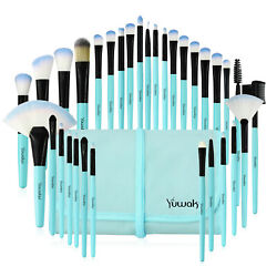 Kyпить 32Pcs Pro Makeup Brushes Set Cosmetic Powder Foundation Brush Blue Brush & Case на еВаy.соm