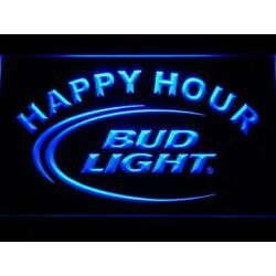 Kyпить Bud Light Beer Happy Hour Led Neon Sign for Game Room, Bar,Man Cave US Shipper на еВаy.соm