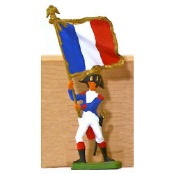 Cofalu Napoleonic French Flag Bearer - Painted Plastic Toy Soldier mint 1960s