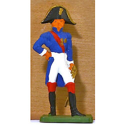 Cofalu Napoleonic French Officer - Painted Plastic Toy Soldier mint 1960s