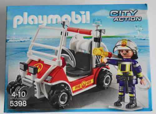 PLAYMOBIL 5398 CITY ACTION FIRE QUAD PLAY SET (4-10 YRS) 1 FIGURE FIRE CAR *NEW*
