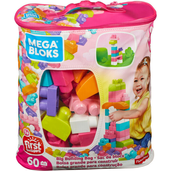 Irlande (Eire)Mega Bloks Grand  Sac 60pcs Rose Sac