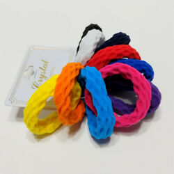 Hair Ties Elastic Seamless Band Ponytailers Multicolor Bright Ponytail 10 Pcs