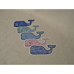Vineyard Vines Summer/Tropical Set of Five(5) Whale Stickers